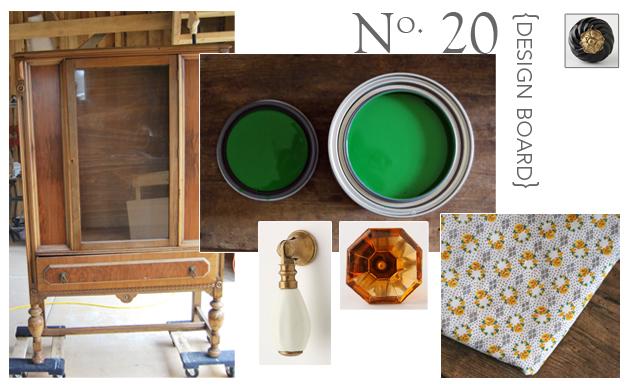 no 20 design board, emerald green