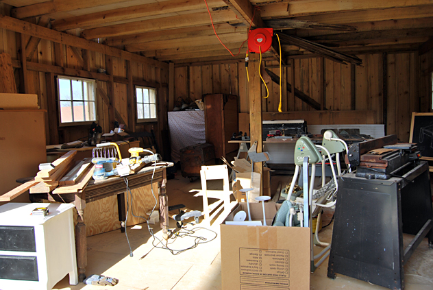 508 workshop spring clean up BEFORE