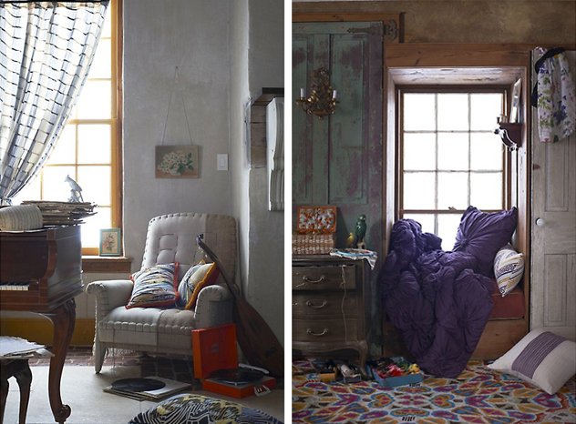 anthropologie small spaces, nooks