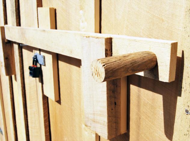 downstairs workshop door latch