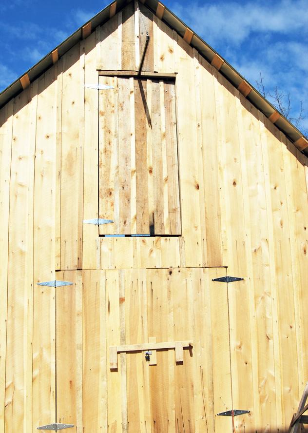 upstairs workshop door in place
