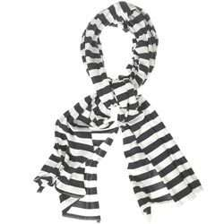 black & white striped fabric