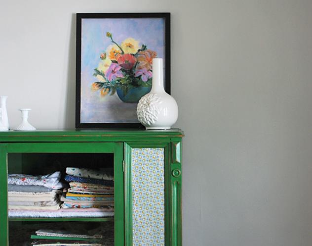 grandma's vintage flower painting