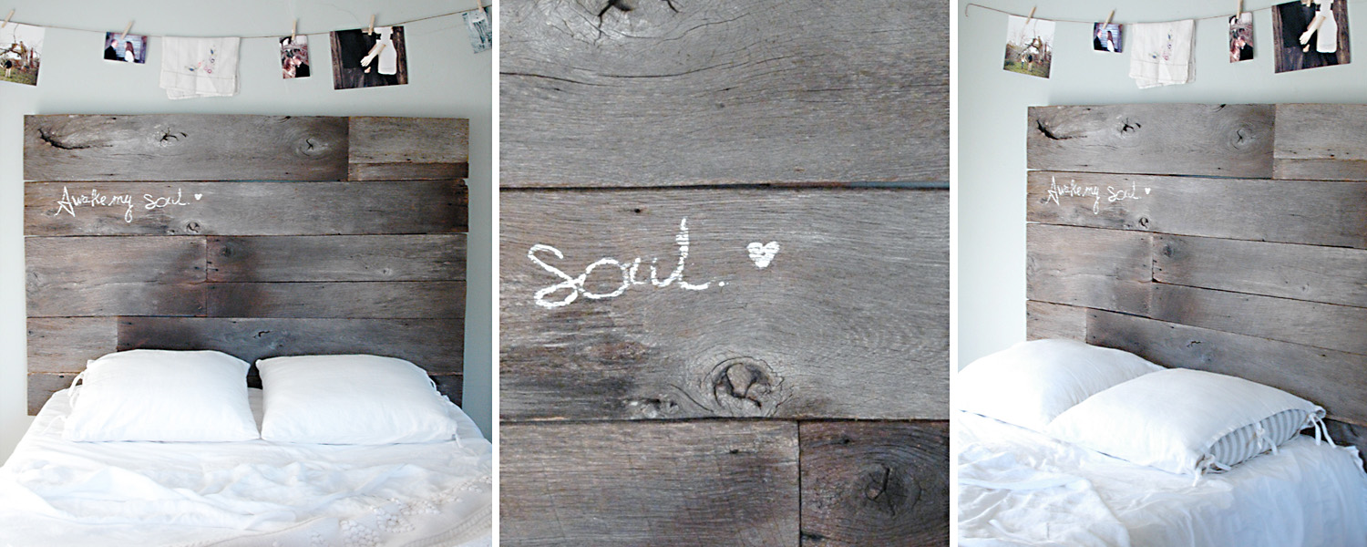 Picture of: Diy Barn Wood Headboard Part Three Installed Fiveoeight Co