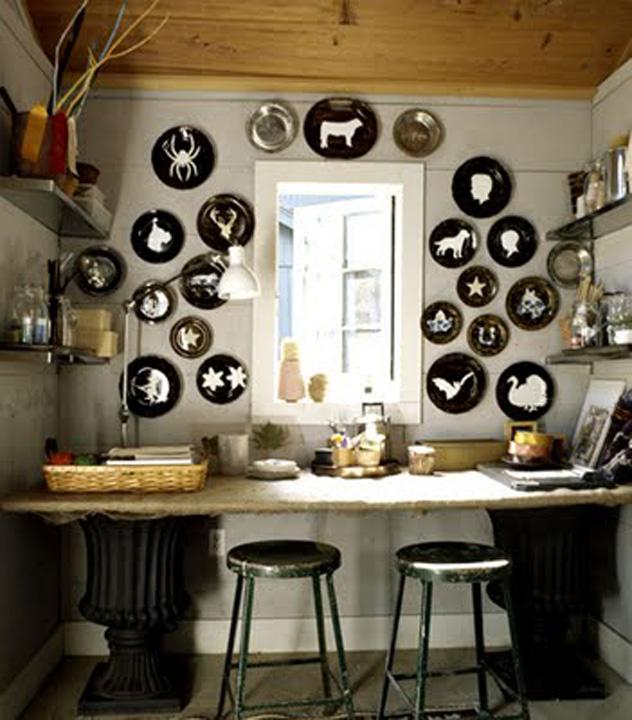diy animal silhouette plates