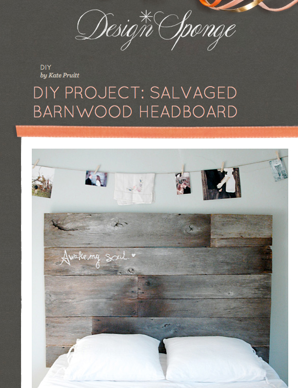 design sponge diy headboard from salvaged barn wood