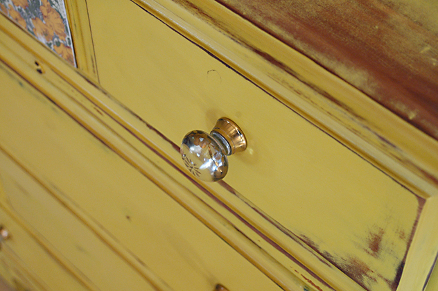 508 painted yellow dresser no 29