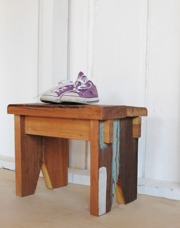 508 restoration and design, handmade industructable stool