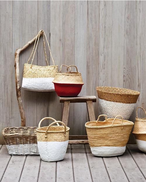 dipped baskets by martha stuart