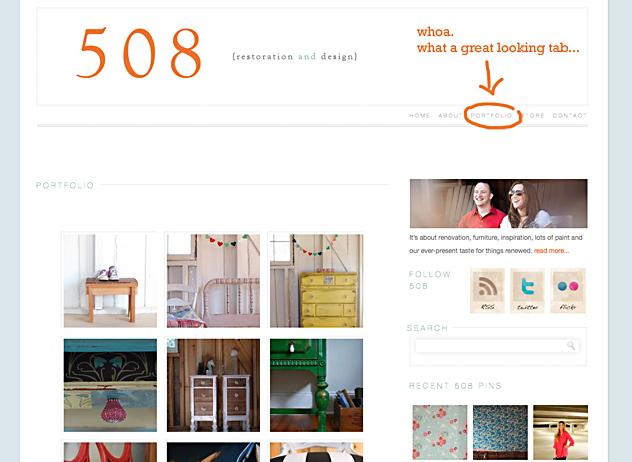508 portfolio page