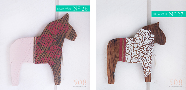Lilla Vän: No.26 and No. 27 Dala Horse