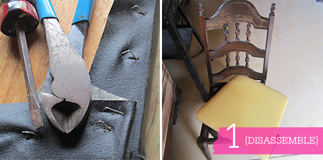508 diy: chippy painted chair with bemz fabric