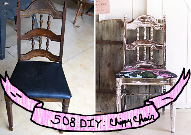 508 diy chippy chair, bemz cover