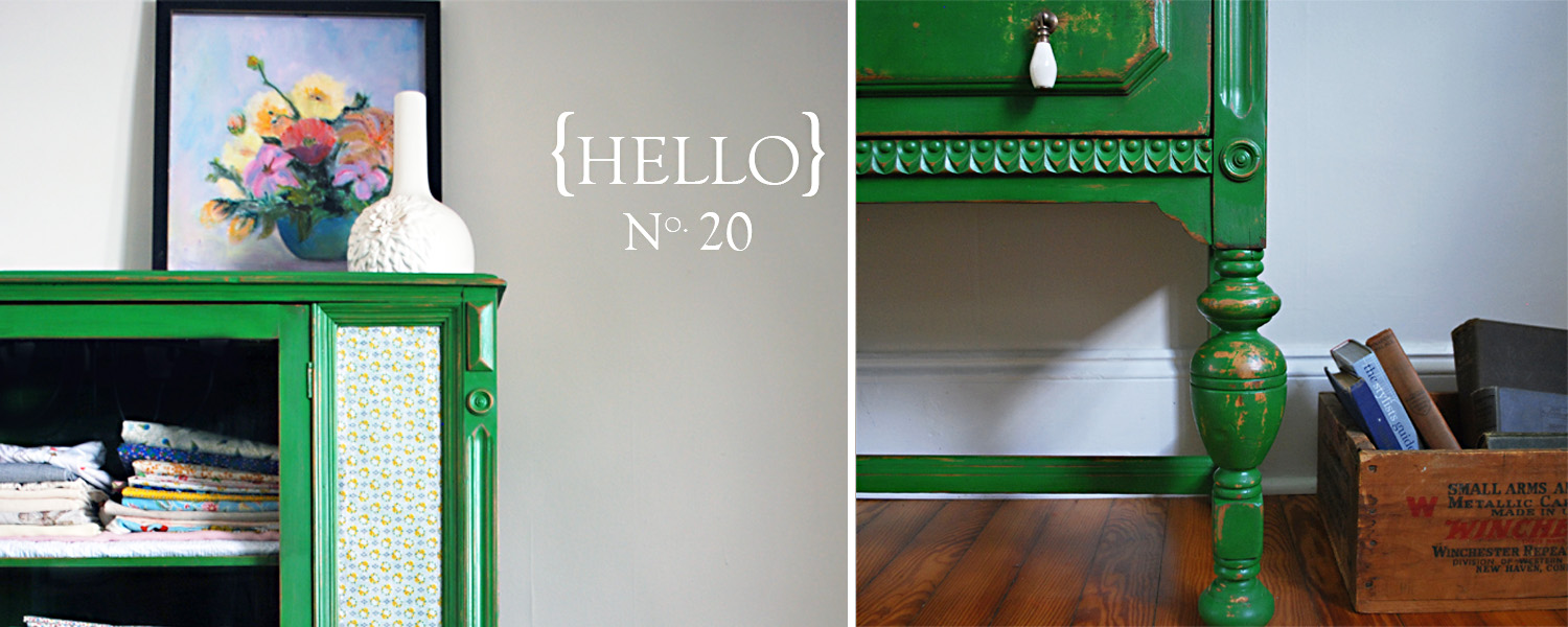 No. 20 Emerald Green China Cabinet