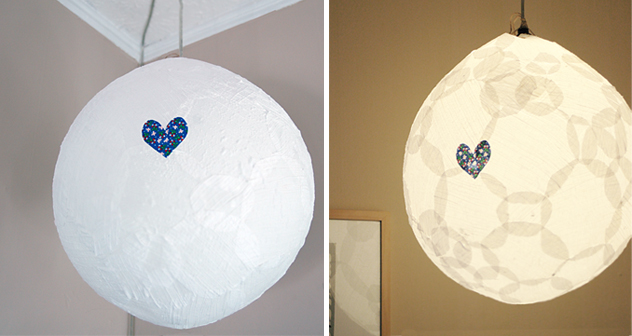 fabric pendant light diy